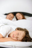 Family in the bedroom Royalty Free Stock Image