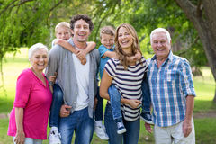 Family being in the garden Royalty Free Stock Image