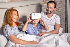 Family being playful at home Stock Photos