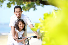 Family bicycle Stock Images