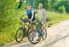 Family bicycle walk Stock Photography