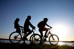 Family bicycler Royalty Free Stock Photos
