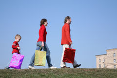 Family with big bags Royalty Free Stock Image