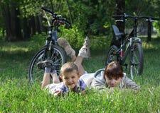 Family on bike Stock Photos