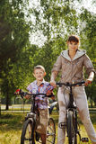 Family on bike Stock Image