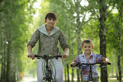 Family on bike Royalty Free Stock Photo