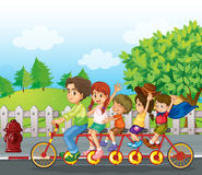 A family bike Stock Photography