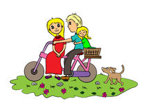 A family bike ride Stock Image