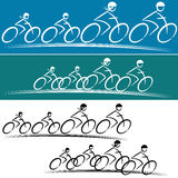 Family Bike Riders Stock Photos