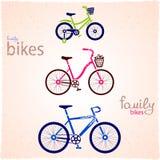 Family bikes Stock Photos