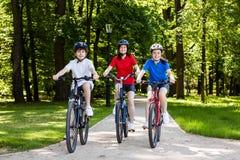 Family biking Royalty Free Stock Photos