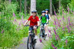Family Biking Stock Photos