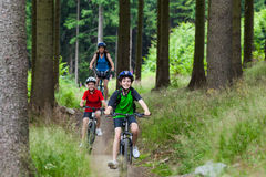 Family biking Royalty Free Stock Photography