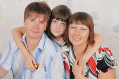 In a family birthday. Stock Photography