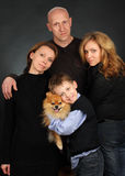 Family on a black background Stock Image