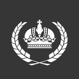 Family blazon or coat of arms - crown and laurel wreath Royalty Free Stock Image
