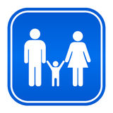 Family blue sign Royalty Free Stock Images