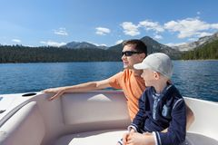 Family boating Stock Photography