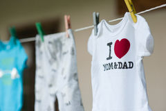 Family. Body suit, small, clothe, mom, dad, love, sweet, child, kids Stock Photography