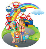 A family bonding at the carnival Royalty Free Stock Image
