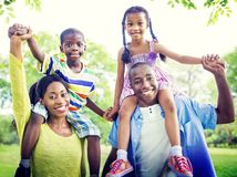 Family Bonding Happiness Togetherness Park Concept.  Royalty Free Stock Photography