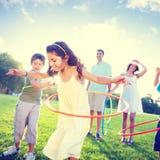 Family Bonding Park Relaxing Exercise Concept.  royalty free stock photos