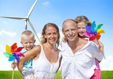Family Bonding Turbine Cheerful Lifestyles Concept Royalty Free Stock Image
