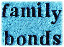Family Bonds. Etched in a stone at a cemetery in Wisconsin Stock Photos