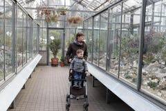 Family at botanical garden Royalty Free Stock Photography