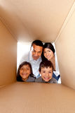 Family in a box Stock Photos