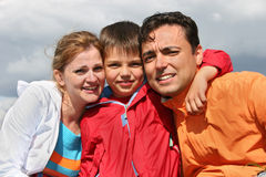Family with boy Royalty Free Stock Photos