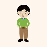 Family boy character theme elements Stock Photos