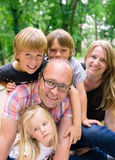 Family with boys and girl Stock Images
