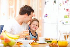 Family breakfast Stock Image