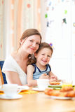 Family breakfast Stock Photo