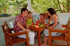Family breakfast Stock Photography