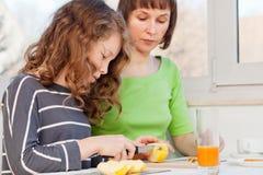 Family breakfast Stock Images