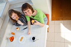 Family breakfast Stock Image
