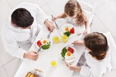 Family breakfast Stock Images
