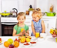 Family  breakfast with child Stock Image