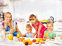Family  breakfast with child Royalty Free Stock Photography