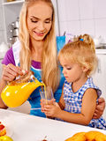 Family  breakfast with child Royalty Free Stock Image