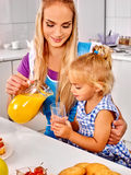 Family  breakfast with child Stock Photos