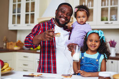 Family at breakfast Stock Photos