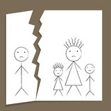 Family Breakup Royalty Free Stock Photos
