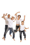 Family in bright T-shirts Royalty Free Stock Photography
