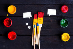 Family of brushes. Royalty Free Stock Images