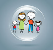 Family bubble Royalty Free Stock Photos