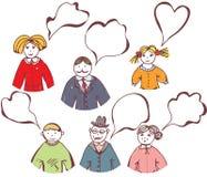 Family bubbles cartoon set Stock Image