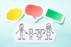 Family with bubbles Royalty Free Stock Photo